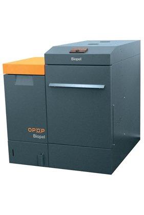 OPOP Biopel Premium 15 kw ar automātisku degļa un siltummaiņa tīrīšanu , komplektā ar granulu granulu tvertni (izmēru iespējams izvēlēties, cen ano tā nemainās)