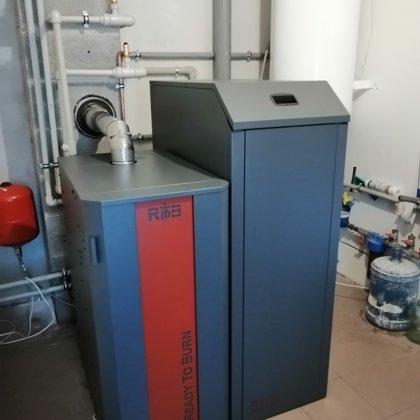 RTB 16 kw ar automātisko siltummaiņa un katla tīrīšanu